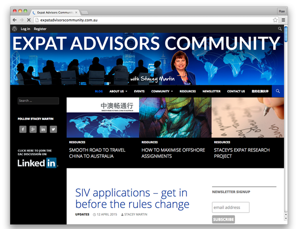 Expat Advisors Community :: website by accurate expressions