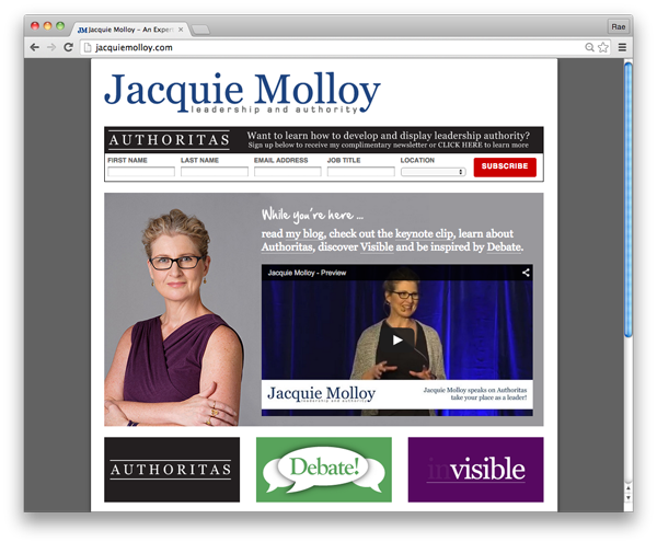Jacquie Molloy :: website by accurate expressions