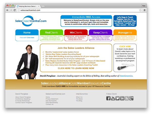 SalesCoachCentral.com :: website by accurate expressions