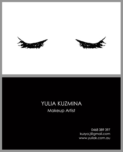 Yulia Kuzmina :: business card design by accurate expressions