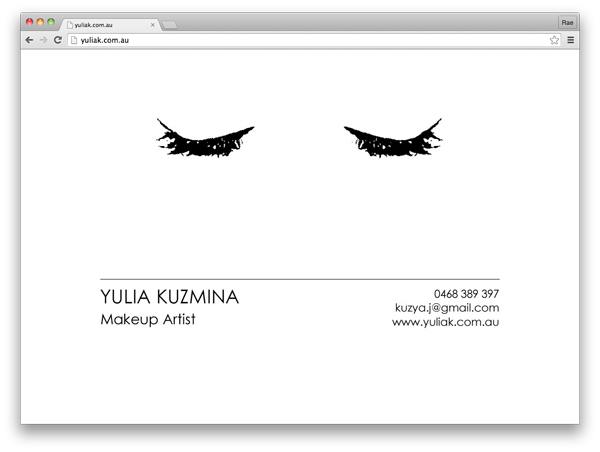 Yulia Kuzmina :: landing page by accurate expressions